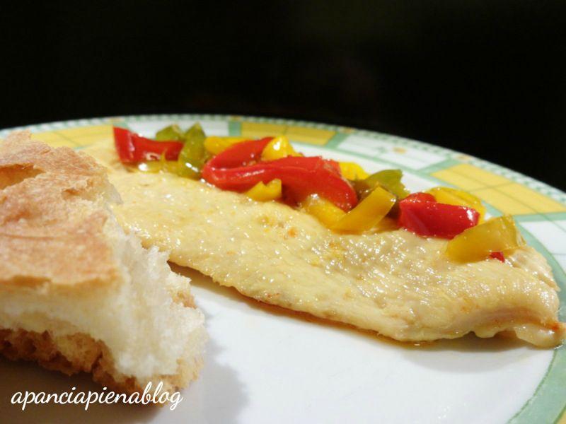 petto di pollo con peperoni a pancia piena