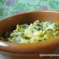 zucchine con le uova a pancia piena
