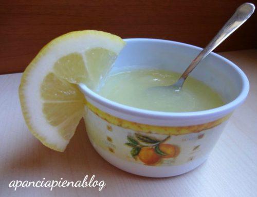 Crema al limone (ricetta tradizionale e bimby)