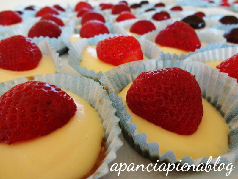 mini cheesecake alla frutta a pancia piena
