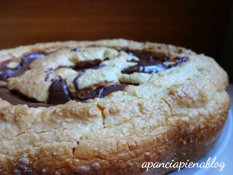 torta nua nutella e cocco a pancia piena