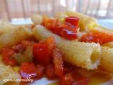 tortiglioni con peperoni mollicati a pancia piena