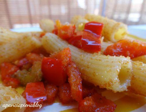 Tortiglioni con peperoni mollicati