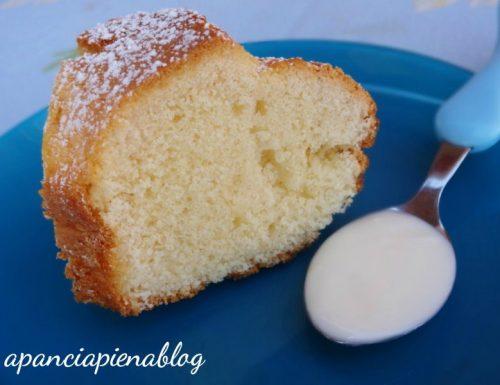 Ciambella alla panna (ricetta tradizionale e bimby)