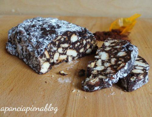 Salame di cioccolata (ricetta tradizionale e bimby)