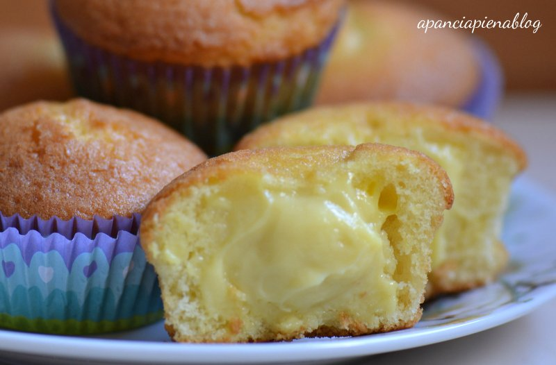 muffin alla crema a pancia piena
