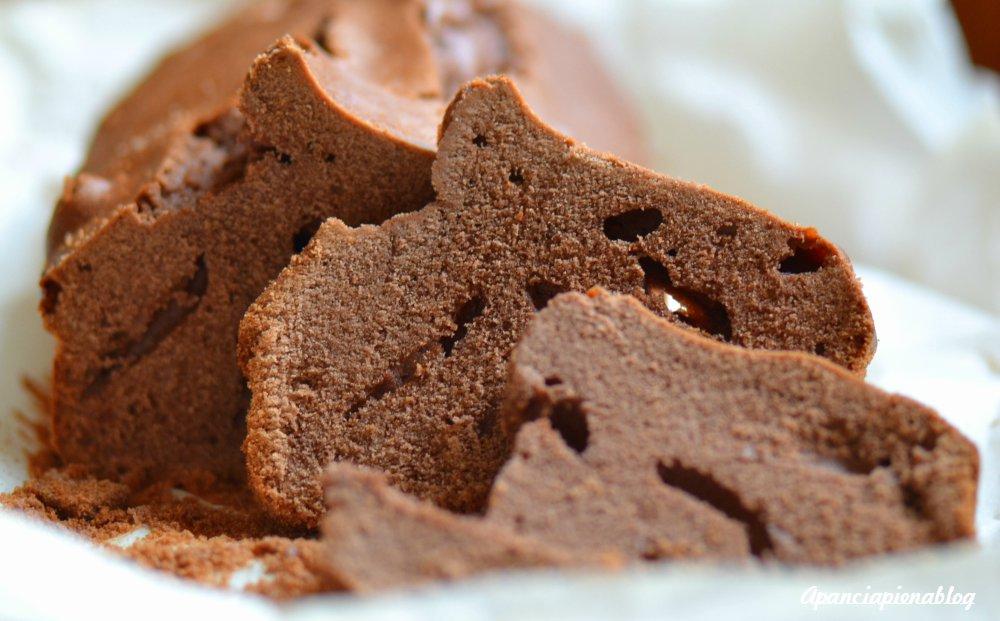 plumcake al cacao con farina di riso a pancia piena