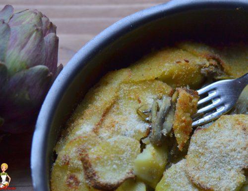 Teglia di patate e carciofi  (ricetta della mamma)