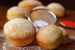Bomboloni soffici al forno (ricetta tradizionale e bimby)