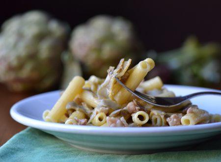 Rigatoni pancetta e carciofi (ricetta semplice)