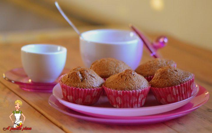 muffin con impasto alla nutella