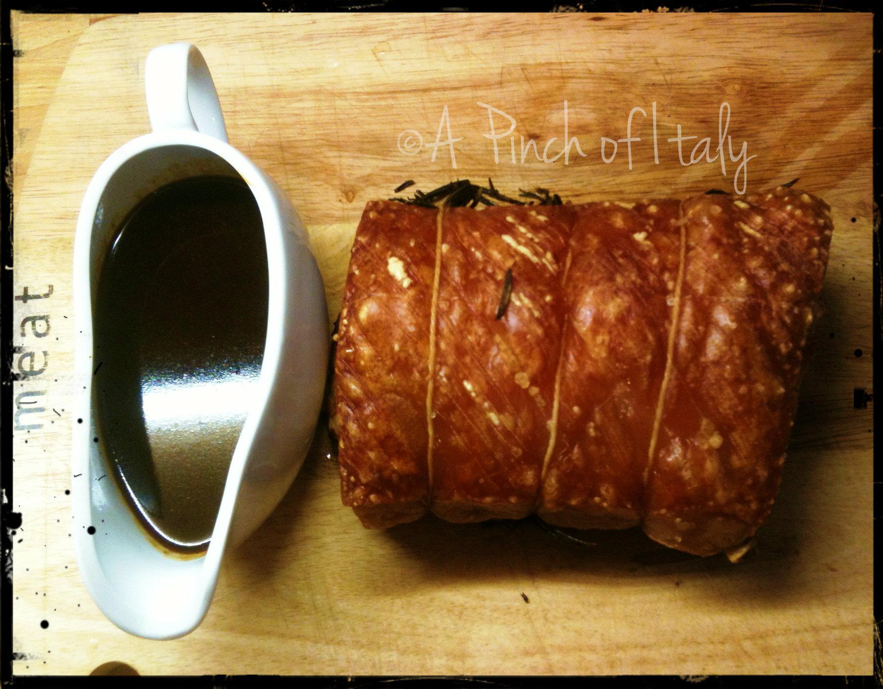 Arrosto di maiale ricetta con gravy a pinch of italy for Arrosto maiale