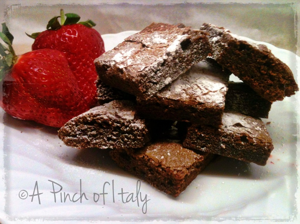 Brownies alla Nutella, ricetta 3 ingredienti, a Pinch of Italy 1