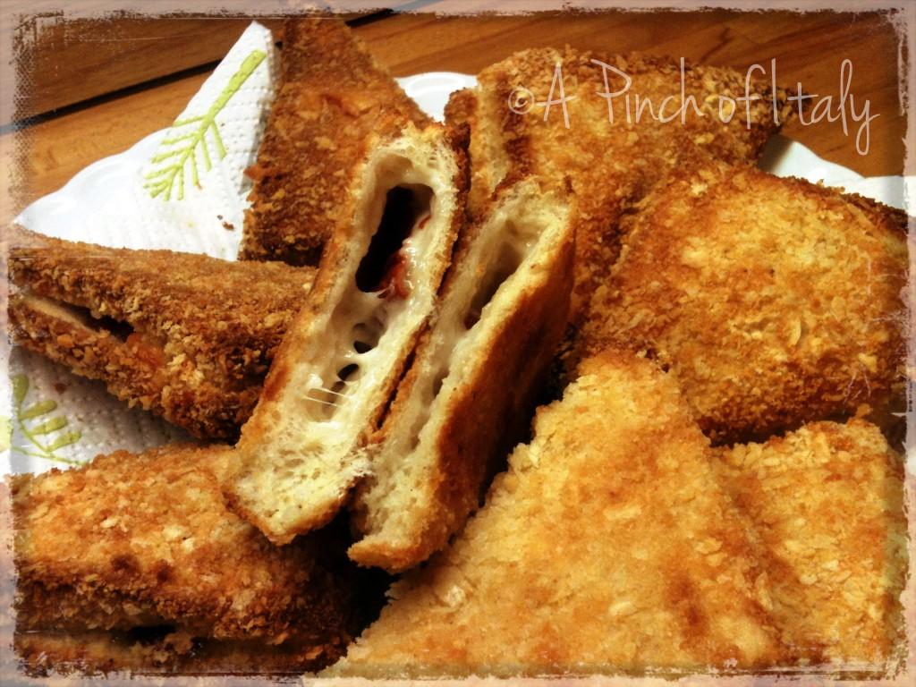 Pane e mozzarella in carrozza senza uova si puo fare in forno for Ricette mozzarella in carrozza al forno