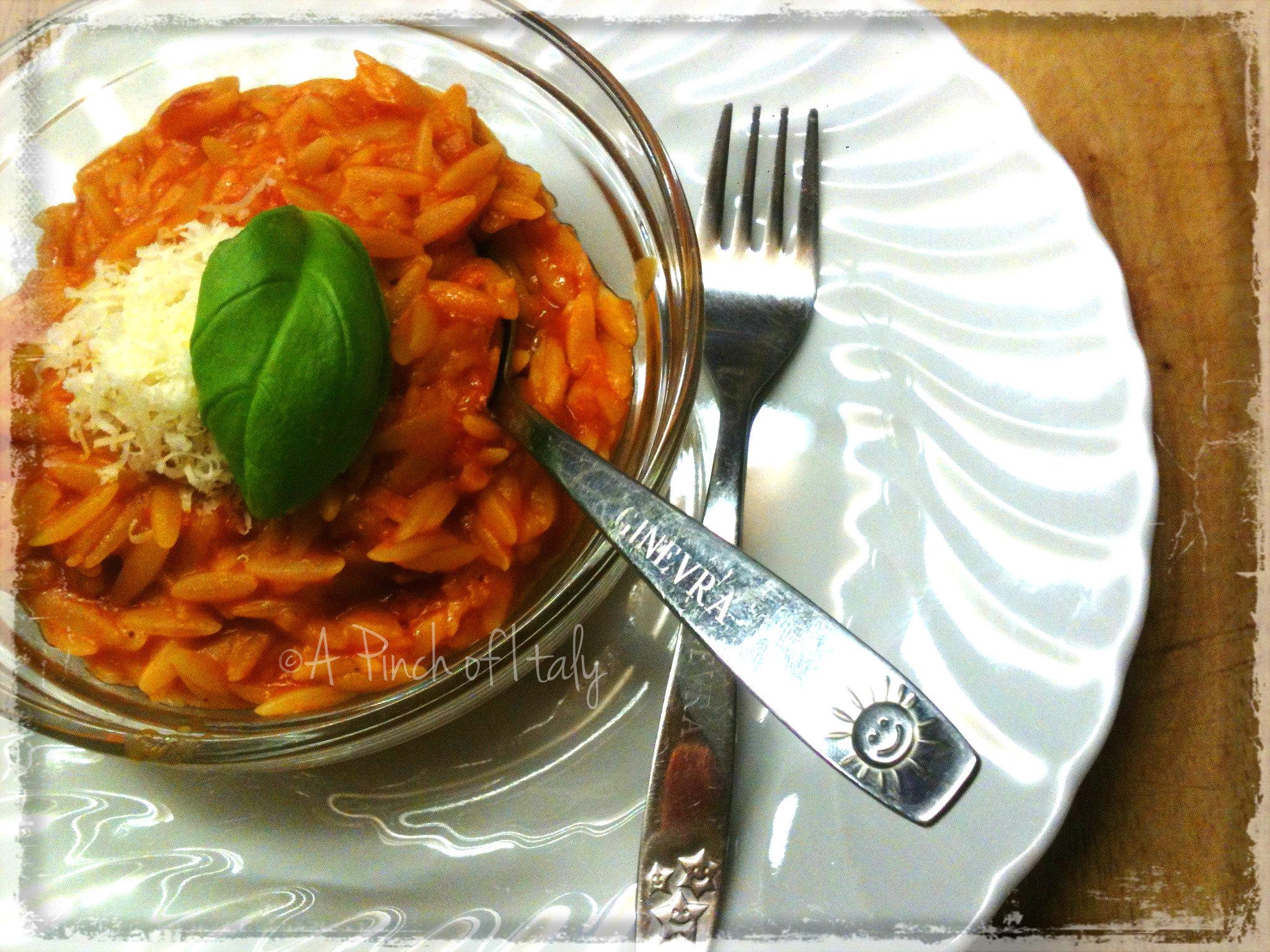 Risoni al Pomodoro Ricetta Svezzamento A Pinch of Italy