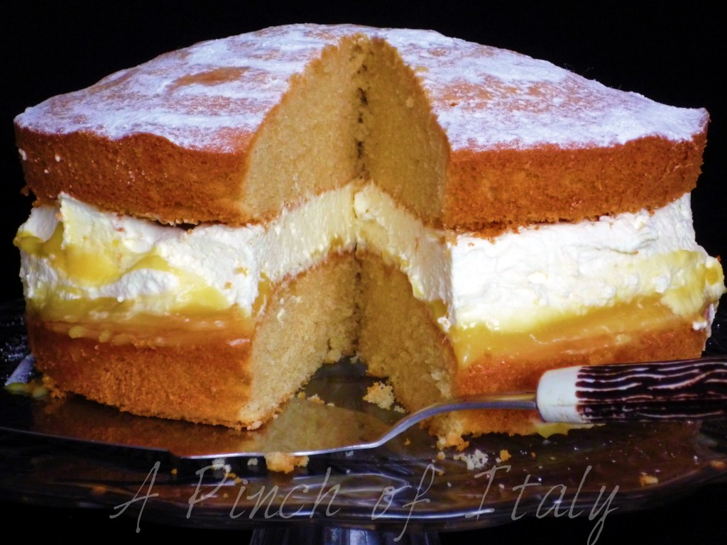 Lemon Curd Sponge Cake Recipe A Pinch Of Italy