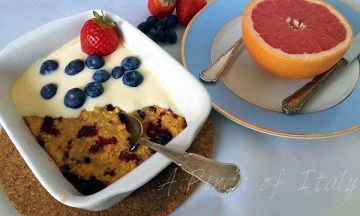 Baked Oats, Slimming World, A Pinch of Italy