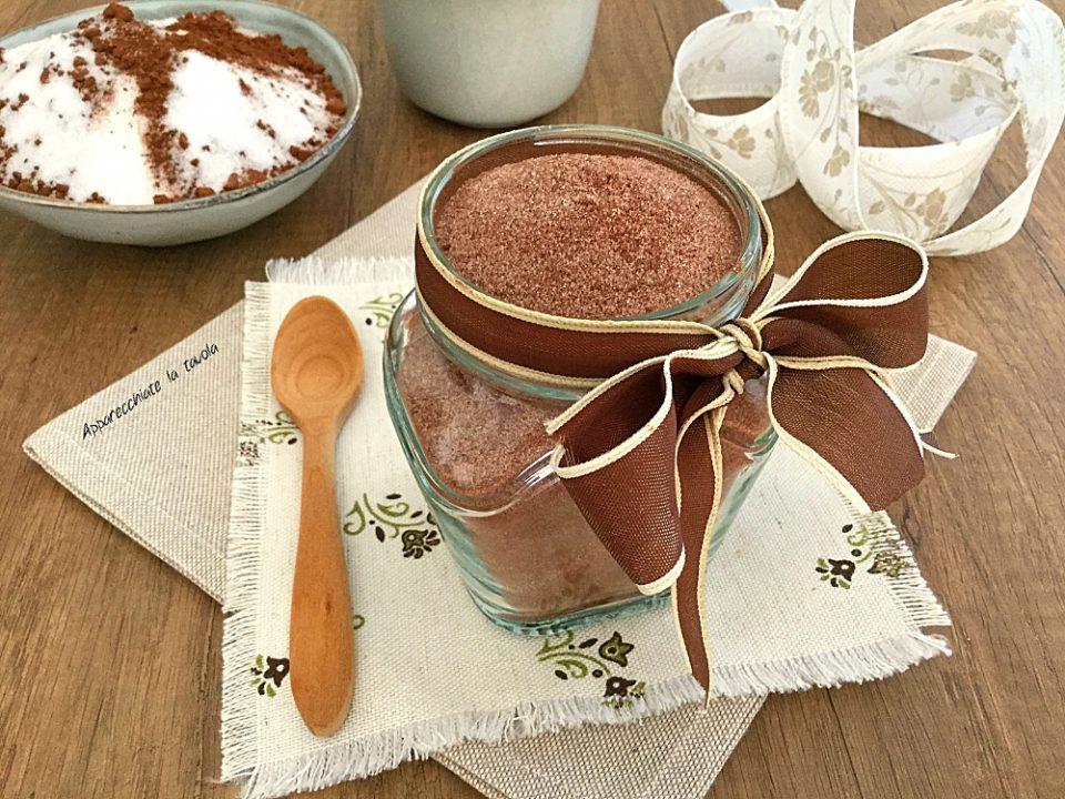 zucchero aromatizzato al cacao