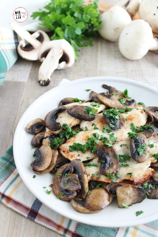 petto di pollo con funghi