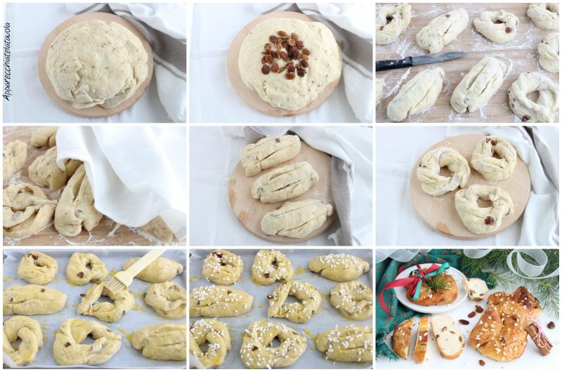 pan dolce con cannella, semi di anice e uvetta
