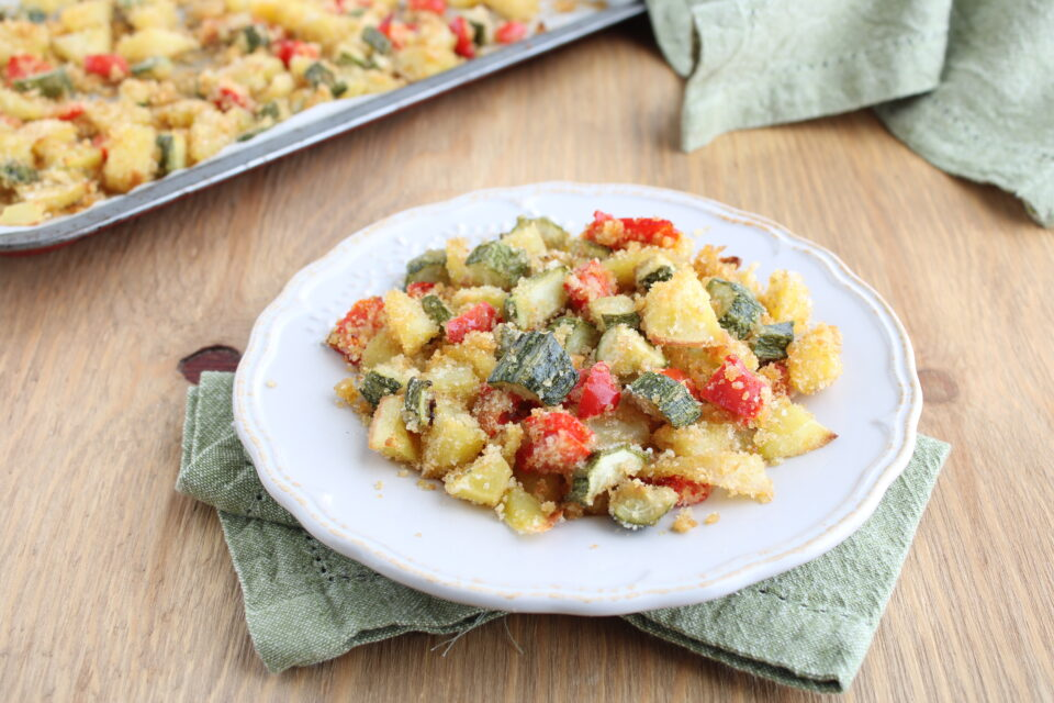 verdure sabbiate al forno