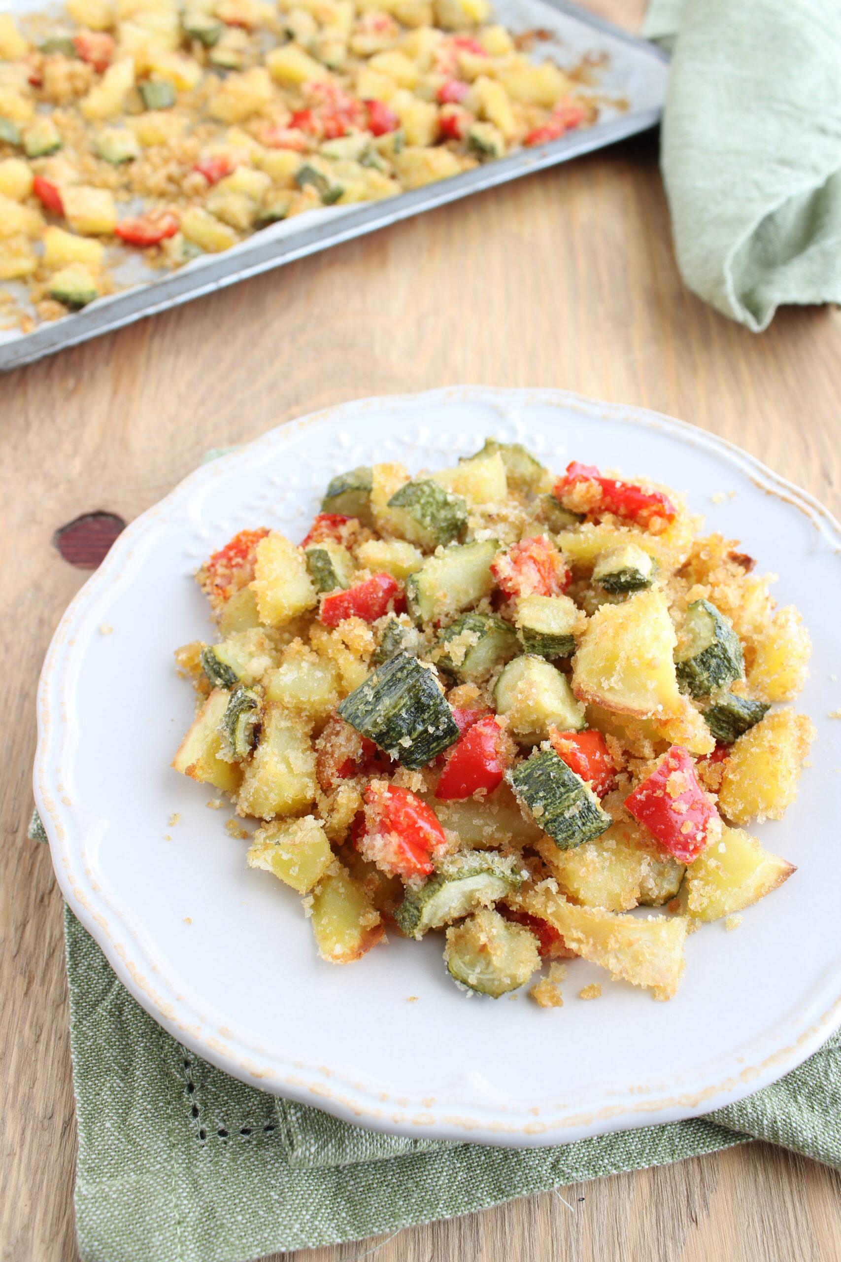 verdure al forno con pangrattato