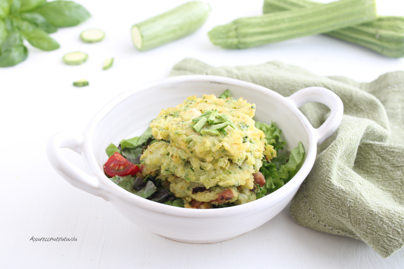 ricetta frittelle con le zucchine