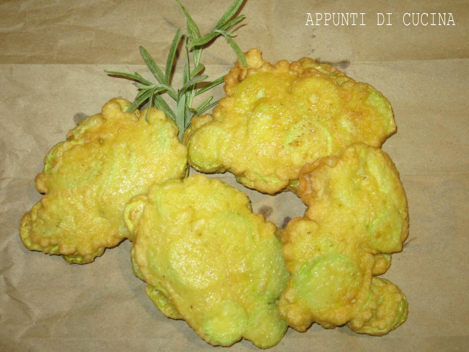 frittelle di zucchine trombetta