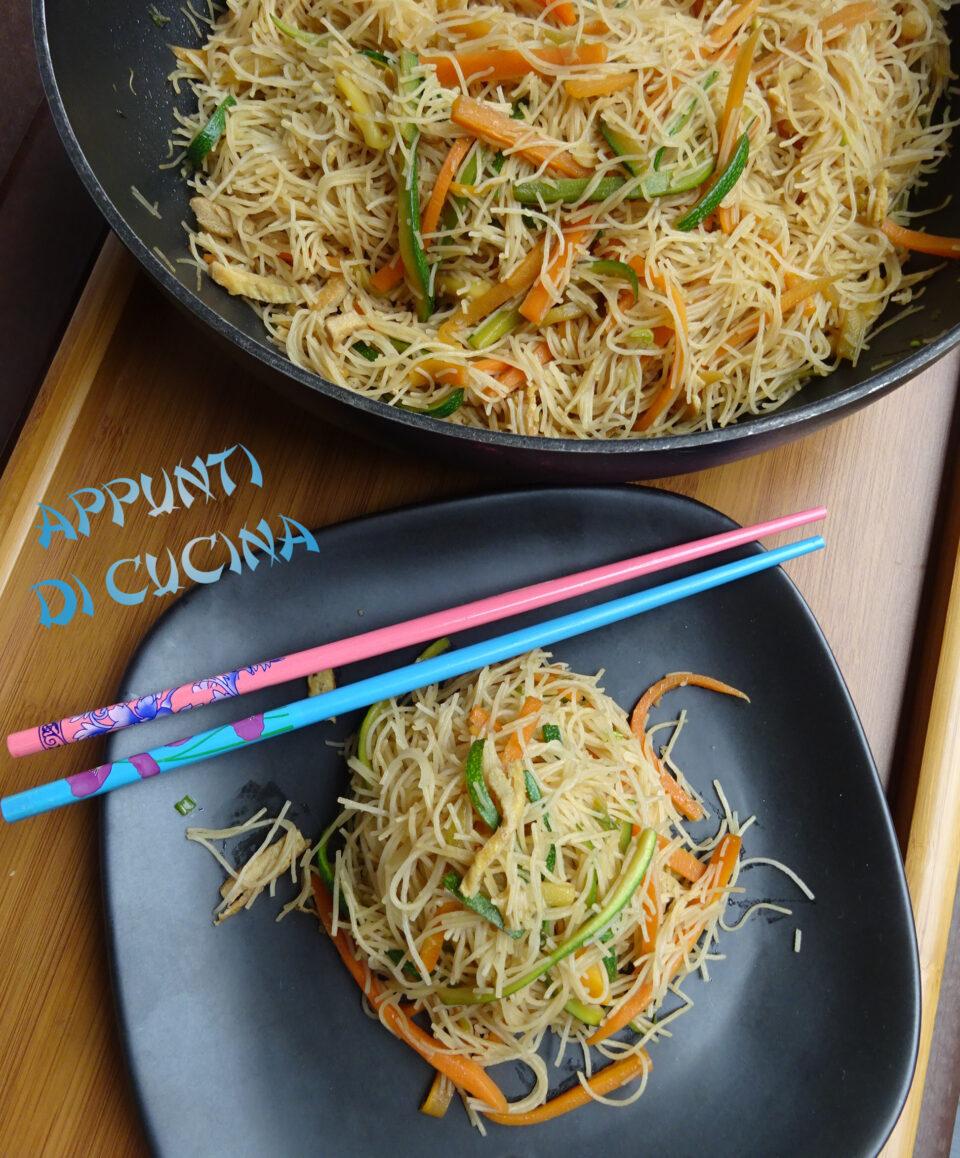 Ricetta Noodles Uova.Spaghetti Di Riso Con Uova E Verdure Appunti Di Cucina