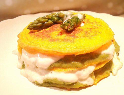Pancakes frittata con asparagi e stracchino