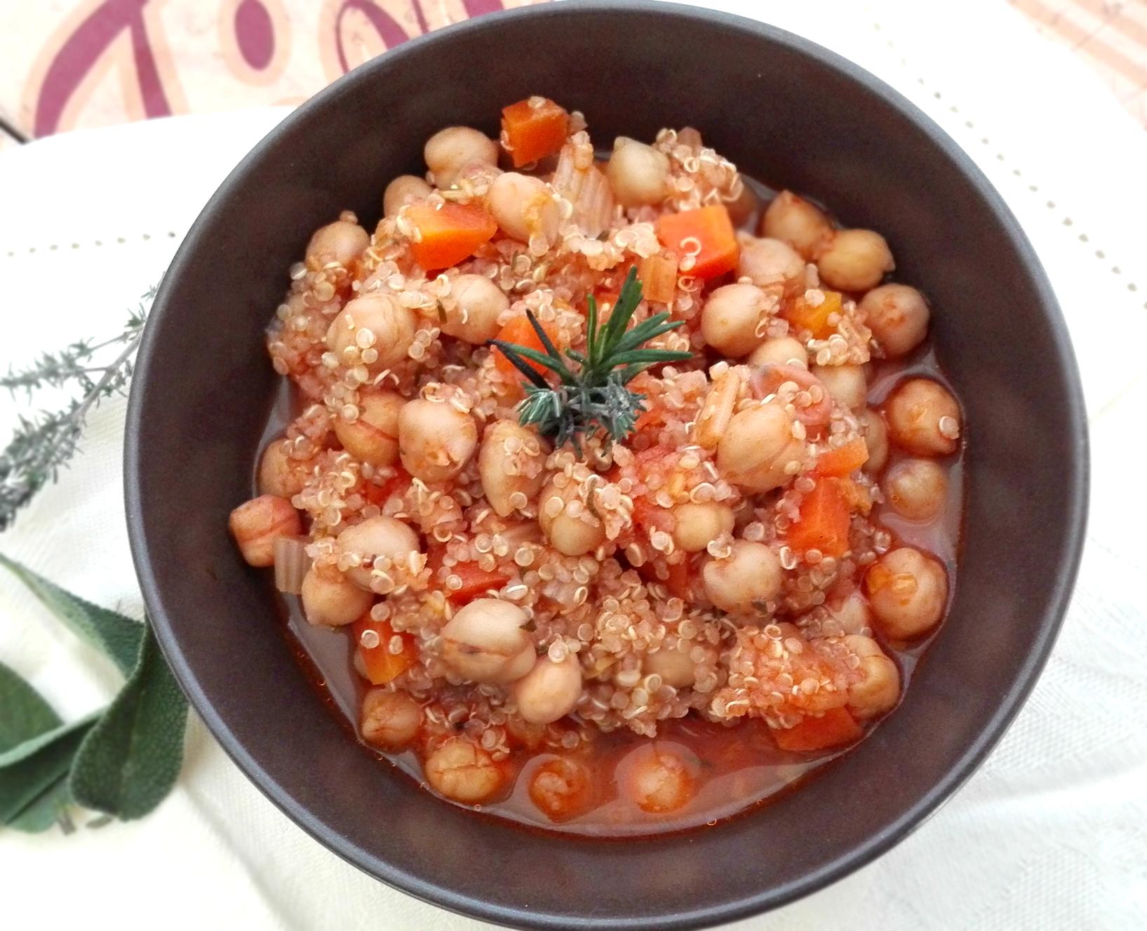 zuppa ceci quinoa