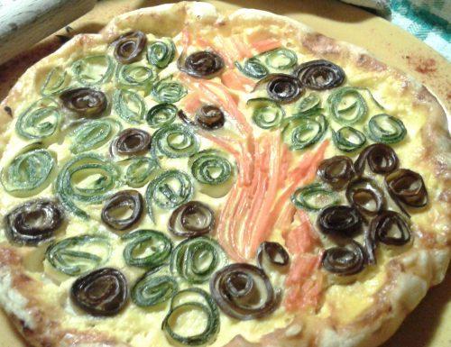 Torta salata con verdure arrotolate