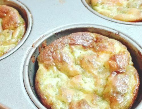 Muffins rustici alle cime di rapa, asiago e prosciutto cotto