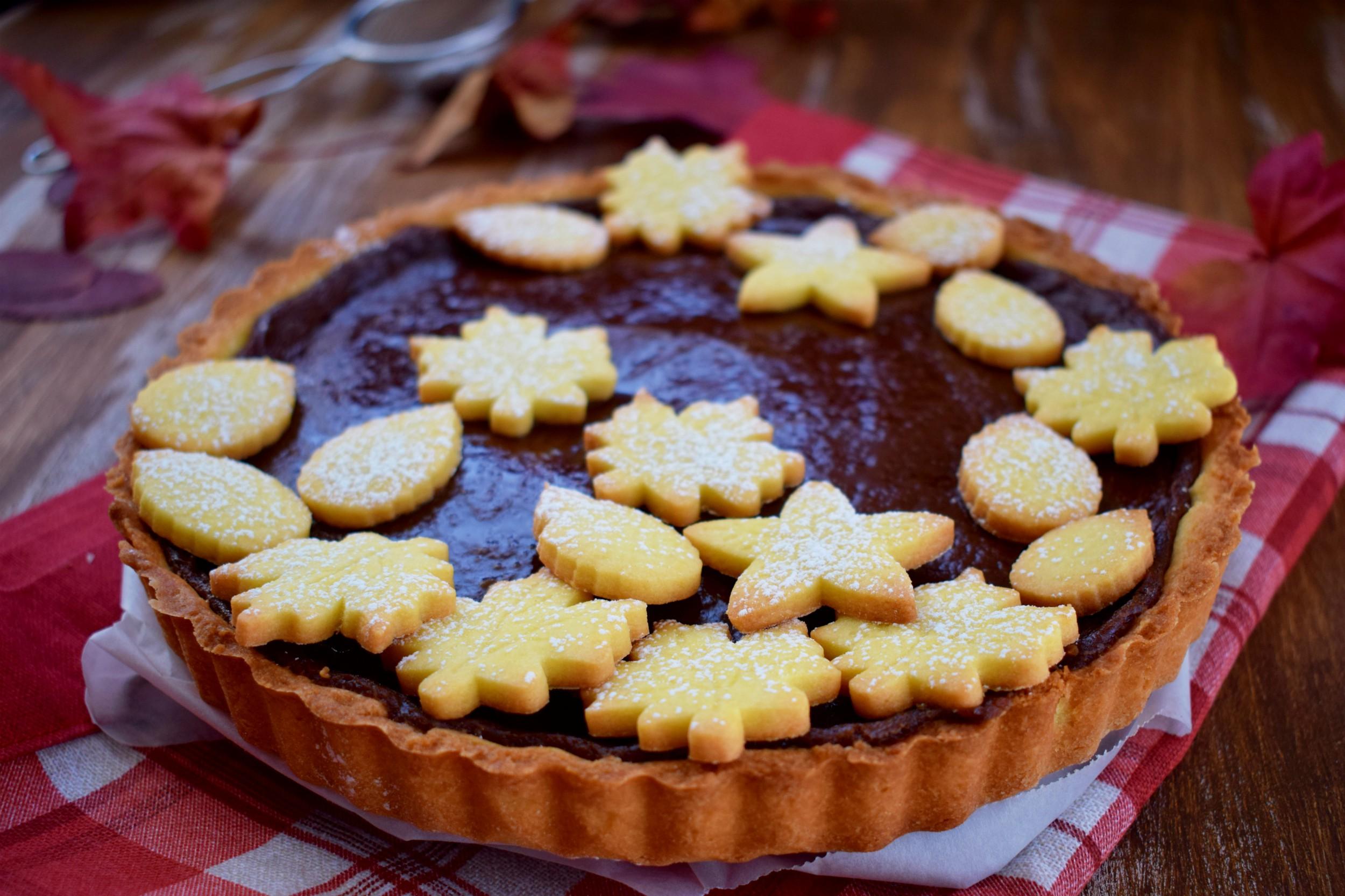 Crostata alla crema pasticcera al cioccolato