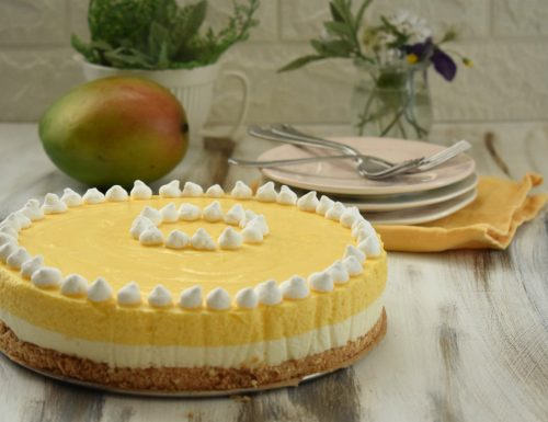 Mousse Cake al mango e cioccolato bianco