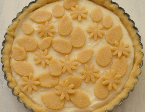 Tarte alle nocciole e mandorle con crema alla vaniglia