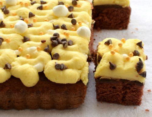 Cake alla cannella e cacao con crema diplomatica