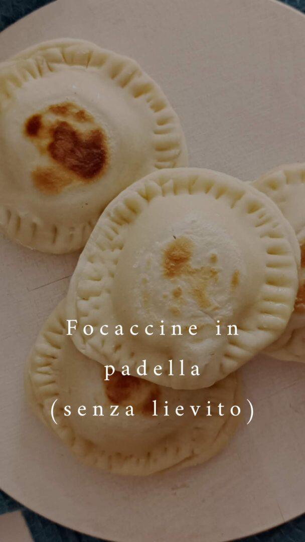 Focaccine filanti in padella (senza lievito)