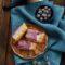Crostata con mousse di mirtilli