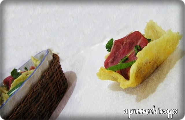 cestini di formaggio ricetta A pummarola 'ncoppa