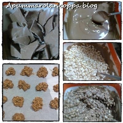 Cioccorisini di riso soffiato e cioccolato