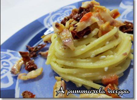 Spaghetti ricotta,pesce spada e pomodorini secchi