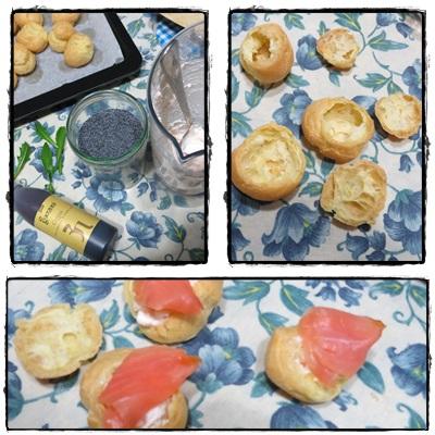 Bignè salati ricotta e salmone foto 1
