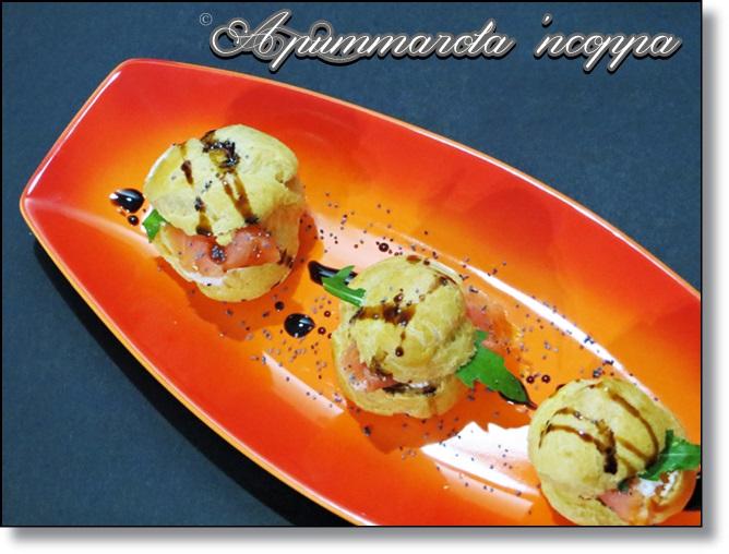 Bignè salati ricotta e salmone foto 41