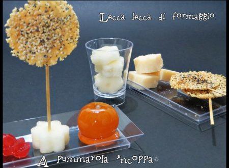 Lecca lecca al formaggio e semi