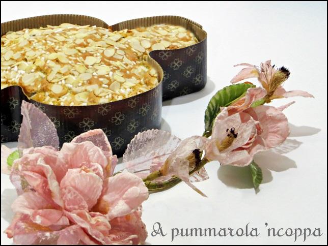 Colomba pasquale veloce di Anna Moroni ricetta blog cucina giallo zafferano A pummarola 'ncoppa mandorle senza lievitazione