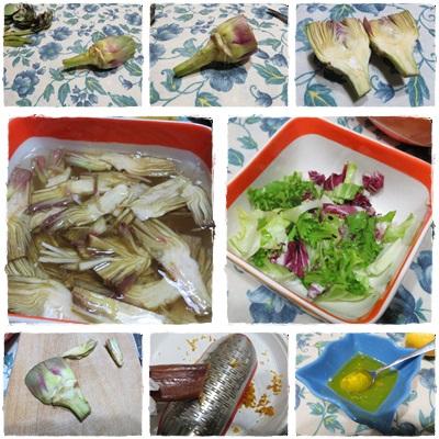 Insalata carciofi e bottarga ricetta A pummarola 'ncoppa