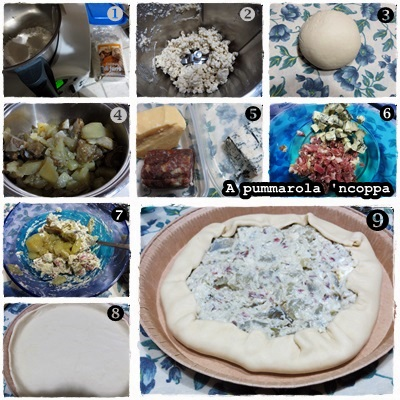 Torta salata di pasta matta con carciofi ricetta A pummarola 'ncoppa