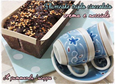Plumcake triplo cioccolato e crema