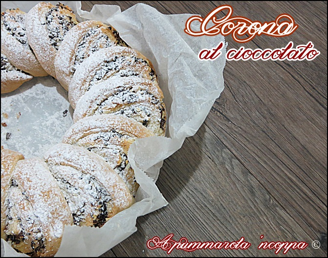 Corona al cioccolato ricetta A pummarola 'ncoppa